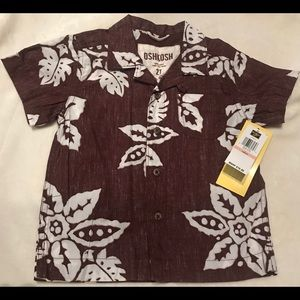 NWT OshKosh 2 Toddler Button up Shirt